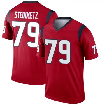Youth Nike Houston Texans David Steinmetz Red Jersey - Legend