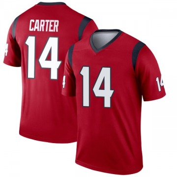 Youth Nike Houston Texans DeAndre Carter Red Jersey - Legend