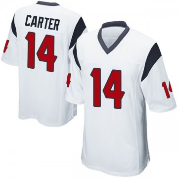 Youth Nike Houston Texans DeAndre Carter White Jersey - Game