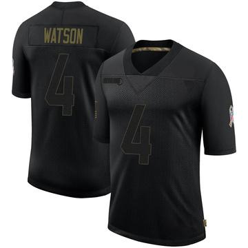Youth Nike Houston Texans Deshaun Watson Black 2020 Salute To Service Jersey - Limited