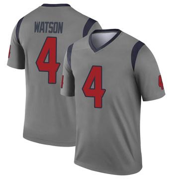 Youth Nike Houston Texans Deshaun Watson Gray Inverted Jersey - Legend