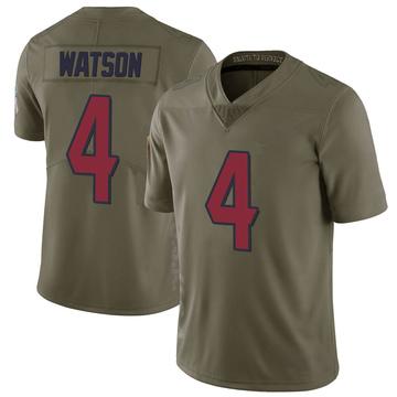 Youth Nike Houston Texans Deshaun Watson Green 2017 Salute to Service Jersey - Limited