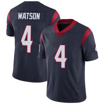 Youth Nike Houston Texans Deshaun Watson Navy 100th Vapor Jersey - Limited