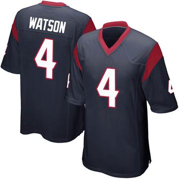 Youth Nike Houston Texans Deshaun Watson Navy Blue Team Color Jersey - Game