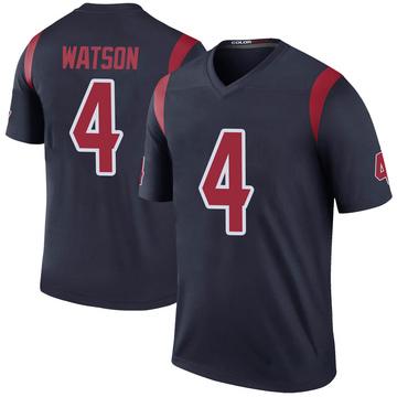 Youth Nike Houston Texans Deshaun Watson Navy Color Rush Jersey - Legend