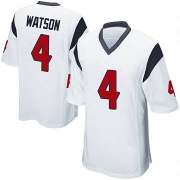 Youth Nike Houston Texans Deshaun Watson White Jersey - Game