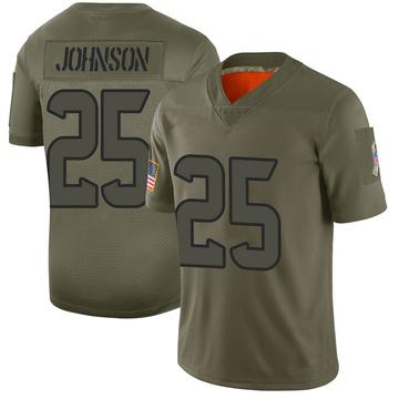 Youth Nike Houston Texans Duke Johnson Jr. Camo 2019 Salute to Service Jersey - Limited