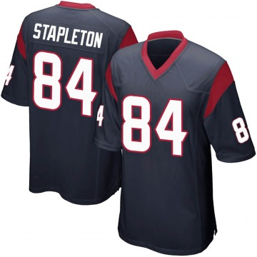 Youth Nike Houston Texans Dylan Stapleton Navy Blue Team Color Jersey - Game