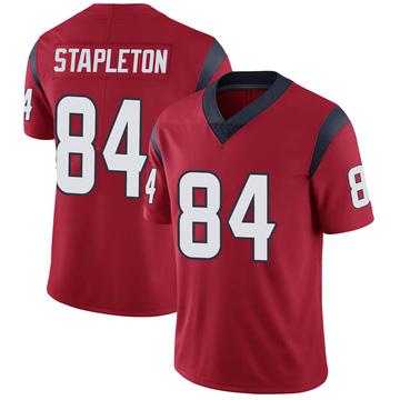 Youth Nike Houston Texans Dylan Stapleton Red Alternate Vapor Untouchable Jersey - Limited