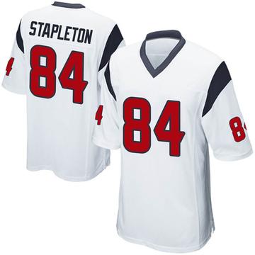 Youth Nike Houston Texans Dylan Stapleton White Jersey - Game