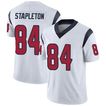 Youth Nike Houston Texans Dylan Stapleton White Vapor Untouchable Jersey - Limited