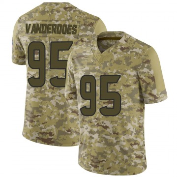 Youth Nike Houston Texans Eddie Vanderdoes Camo 2018 Salute to Service Jersey - Limited
