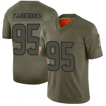Youth Nike Houston Texans Eddie Vanderdoes Camo 2019 Salute to Service Jersey - Limited