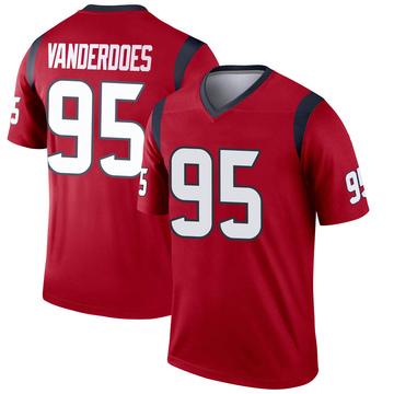 Youth Nike Houston Texans Eddie Vanderdoes Red Jersey - Legend