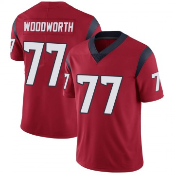 Youth Nike Houston Texans Elex Woodworth Red Alternate Vapor Untouchable Jersey - Limited