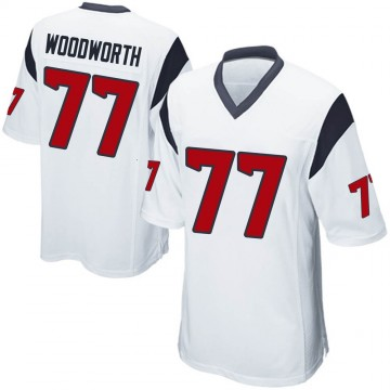 Youth Nike Houston Texans Elex Woodworth White Jersey - Game