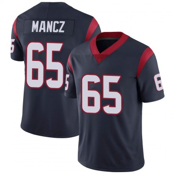 Youth Nike Houston Texans Greg Mancz Navy 100th Vapor Jersey - Limited