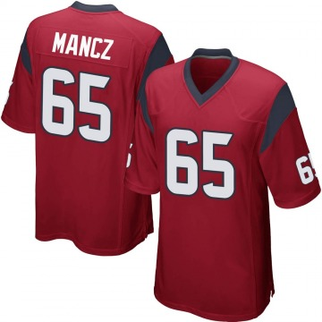Youth Nike Houston Texans Greg Mancz Red Alternate Jersey - Game