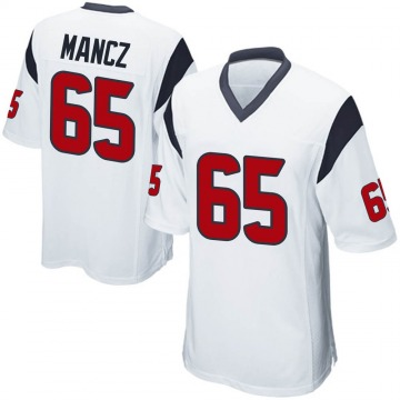 Youth Nike Houston Texans Greg Mancz White Jersey - Game
