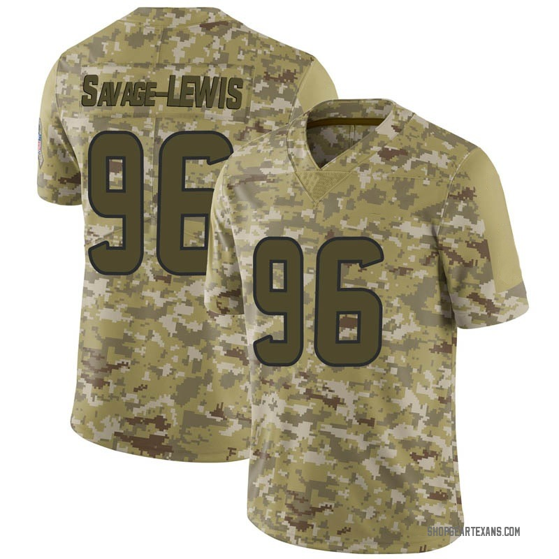 best service f7021 c73f3 Youth Nike Houston Texans Ira Savage-Lewis Camo 2018 Salute to Service  Jersey - Limited