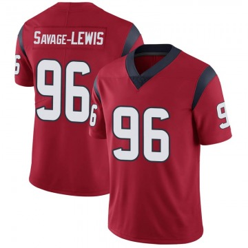 Youth Nike Houston Texans Ira Savage-Lewis Red Alternate Vapor Untouchable Jersey - Limited