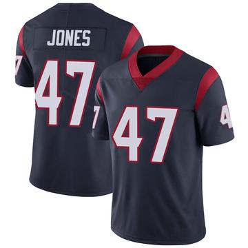 Youth Nike Houston Texans Jamir Jones Navy 100th Vapor Jersey - Limited
