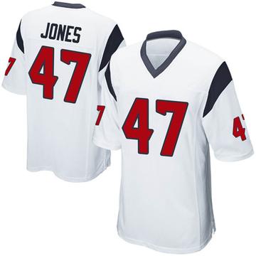 Youth Nike Houston Texans Jamir Jones White Jersey - Game