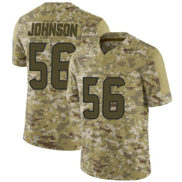 Youth Nike Houston Texans Jan Johnson Camo 2018 Salute to Service Jersey - Limited