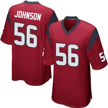 Youth Nike Houston Texans Jan Johnson Red Alternate Jersey - Game