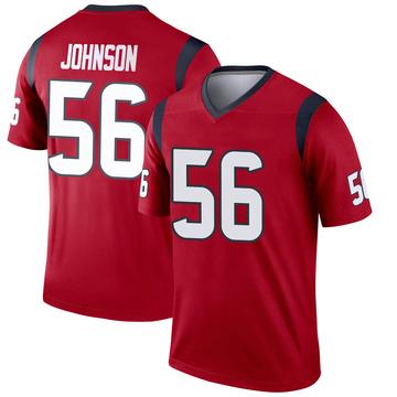 Youth Nike Houston Texans Jan Johnson Red Jersey - Legend