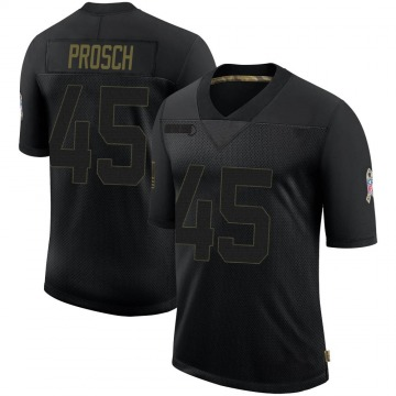 Youth Nike Houston Texans Jay Prosch Black 2020 Salute To Service Jersey - Limited