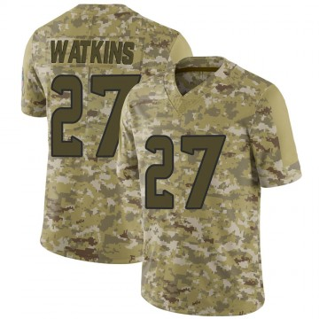 Youth Nike Houston Texans Jaylen Watkins Camo 2018 Salute to Service Jersey - Limited