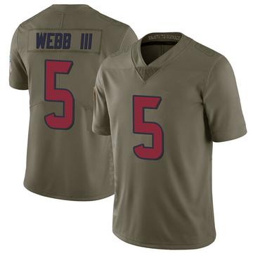 Youth Nike Houston Texans Joe Webb III Green 2017 Salute to Service Jersey - Limited