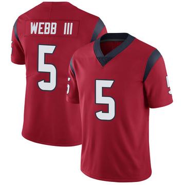 Youth Nike Houston Texans Joe Webb III Red Alternate Vapor Untouchable Jersey - Limited