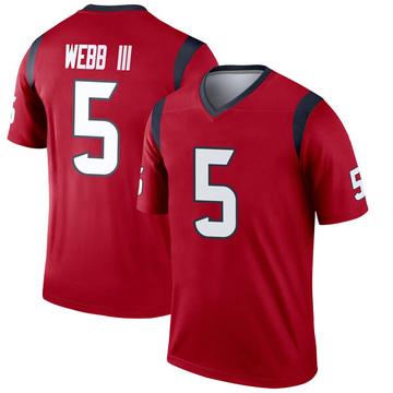 Youth Nike Houston Texans Joe Webb III Red Jersey - Legend