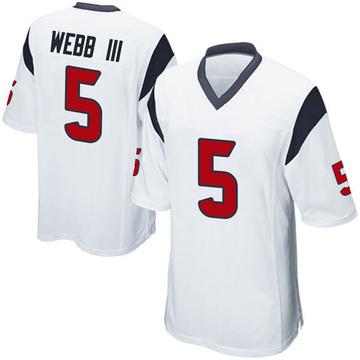 Youth Nike Houston Texans Joe Webb III White Jersey - Game