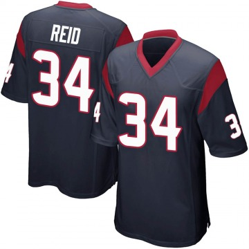 Youth Nike Houston Texans John Reid Navy Blue Team Color Jersey - Game