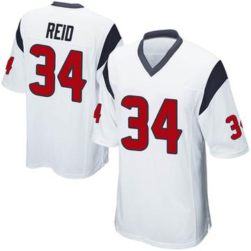 Youth Nike Houston Texans John Reid White Jersey - Game