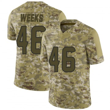 Youth Nike Houston Texans Jon Weeks Camo 2018 Salute to Service Jersey - Limited