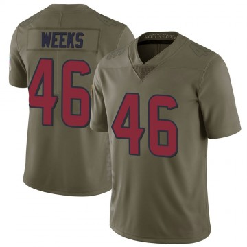 Youth Nike Houston Texans Jon Weeks Green 2017 Salute to Service Jersey - Limited