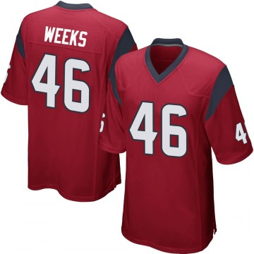 Youth Nike Houston Texans Jon Weeks Red Alternate Jersey - Game