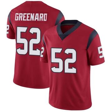 Youth Nike Houston Texans Jonathan Greenard Green Red Alternate Vapor Untouchable Jersey - Limited