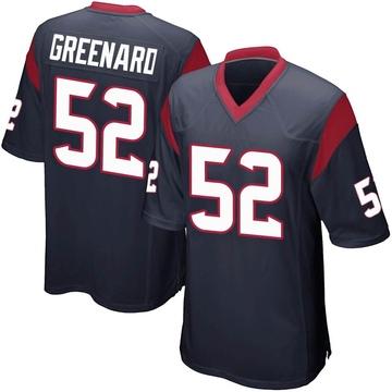 Youth Nike Houston Texans Jonathan Greenard Navy Blue Team Color Jersey - Game