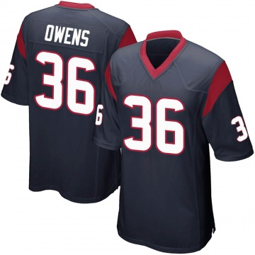 Youth Nike Houston Texans Jonathan Owens Navy Blue Team Color Jersey - Game