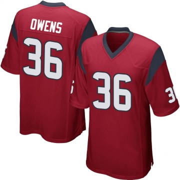 Youth Nike Houston Texans Jonathan Owens Red Alternate Jersey - Game