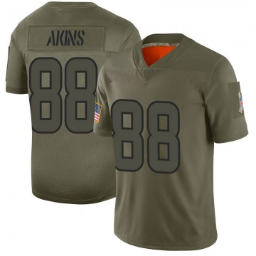 Youth Nike Houston Texans Jordan Akins Camo 2019 Salute to Service Jersey - Limited