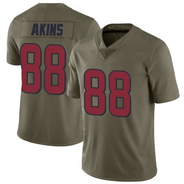 Youth Nike Houston Texans Jordan Akins Green 2017 Salute to Service Jersey - Limited