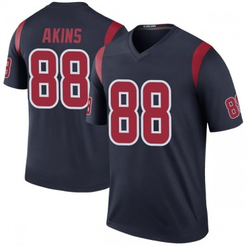 Youth Nike Houston Texans Jordan Akins Navy Color Rush Jersey - Legend