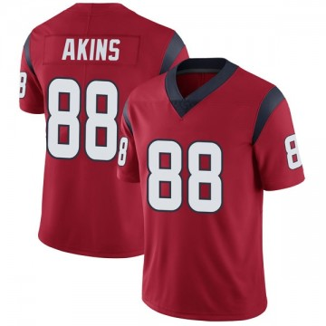 Youth Nike Houston Texans Jordan Akins Red Alternate Vapor Untouchable Jersey - Limited