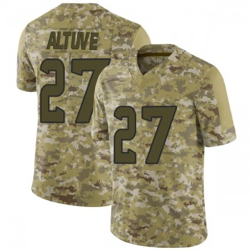 Youth Nike Houston Texans Jose Altuve Camo 2018 Salute to Service Jersey - Limited